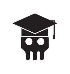 Skeleton skull academy logo vector