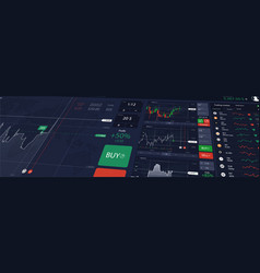 stock market or forex trading platform vector image