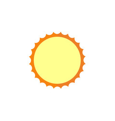 Sun flat icon travel tourism vector