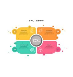 Swot flower diagram vector
