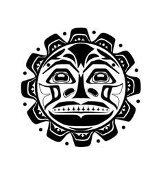 The sun symbol vector