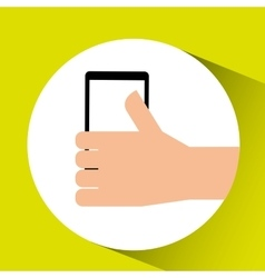Thumb up tablet icon vector