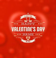 Valentines Design vector image vector image