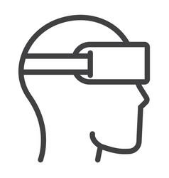virtual reality glasses line icon game vector image