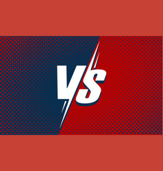 vs or versus text poster for battle or fight game vector image