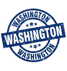 Washington blue round grunge stamp vector