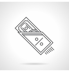 Web payment flat line icon vector image
