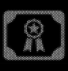 White dot diploma icon vector