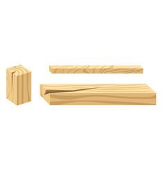 Wood planks building materials construction vector