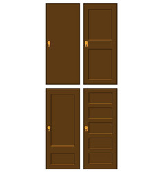 wooden door set symbol icon design vector image