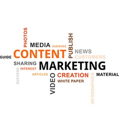 Word cloud content marketing vector