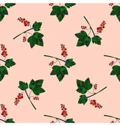 Colored red currant seamless pattern vector image