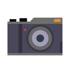 Digital flat photo camera isolated vector image vector image