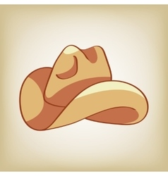 Doodle of a cowboy hat vector image vector image
