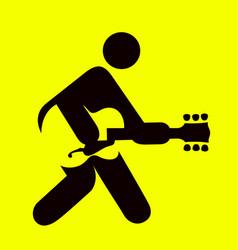 man playing guitar sign vector image vector image