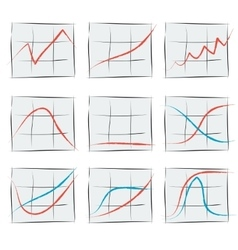 Nine growth chart vector image