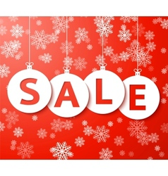 Christmas sale balls cut the paper vector image