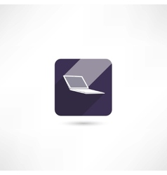 computer notebook icon vector image