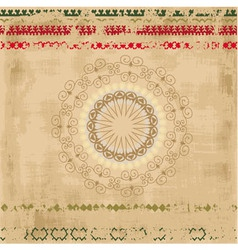 Ethnic Pattern Background vector image