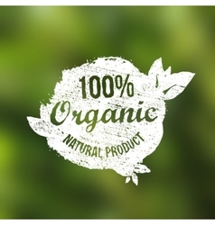 natural organic food grunge vintage label vector image