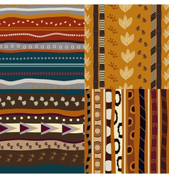 Set of African ethnic seamless patterns vector image vector image