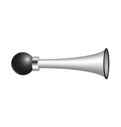 Vintage air horn in silver design vector