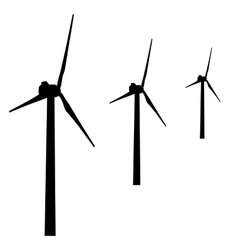 windmills for electric power production vector image vector image