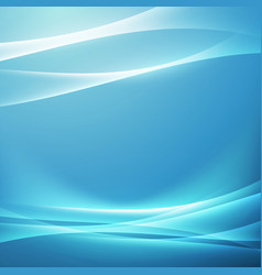 bright blue swoosh glow wave background vector image vector image