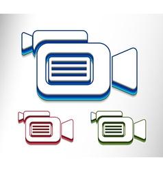 camera web icon design vector image