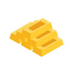 flat gold bar vector image vector image