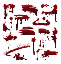 ink splatters set vector image