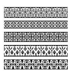 mexican geometric seamless pattern borders vector image
