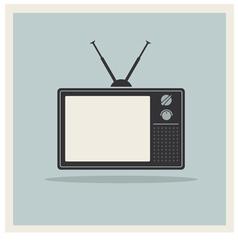 Retro Background CRT TV Set Vintage vector image vector image