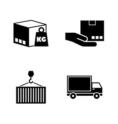 Commercial logistics simple related icons vector