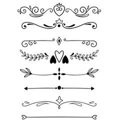 0015 hand drawn dividers vector image