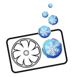 Air conditioner cooling snowflake symbol vector