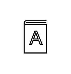 Alphabet book outline icon linear style sign for vector
