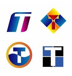 Alphabetical Logo Design Concepts Letter T vector image