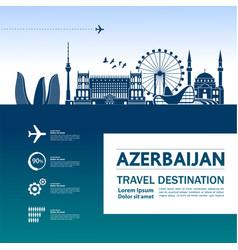 azerbaijan travel destination vector image