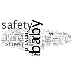 basafety showers not just fun and games vector image