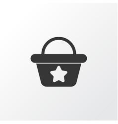 beach bag icon symbol premium quality isolated vector image
