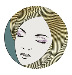 beauty face 5 vector image