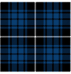 Blue and black tartan plaid seamless pattern vector