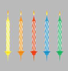 candels for birthday vector image