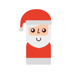 christmas santa claus with hat celebration cartoon vector image