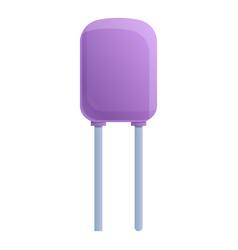 Control capacitor icon cartoon style vector