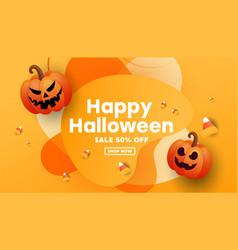 creative modern banner for halloween celebration vector image