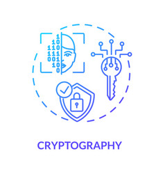 Cryptography concept icon vector