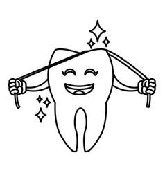 Cute tooth cartoon vector