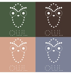 Decorative owl design template vector